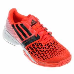 Adidas orange white black adizero feather sneakers